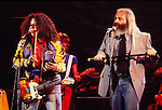 Flo & Eddie 1978 on Midnight Special. Mark Volman and Howard Kaylan.© Chris Walter.