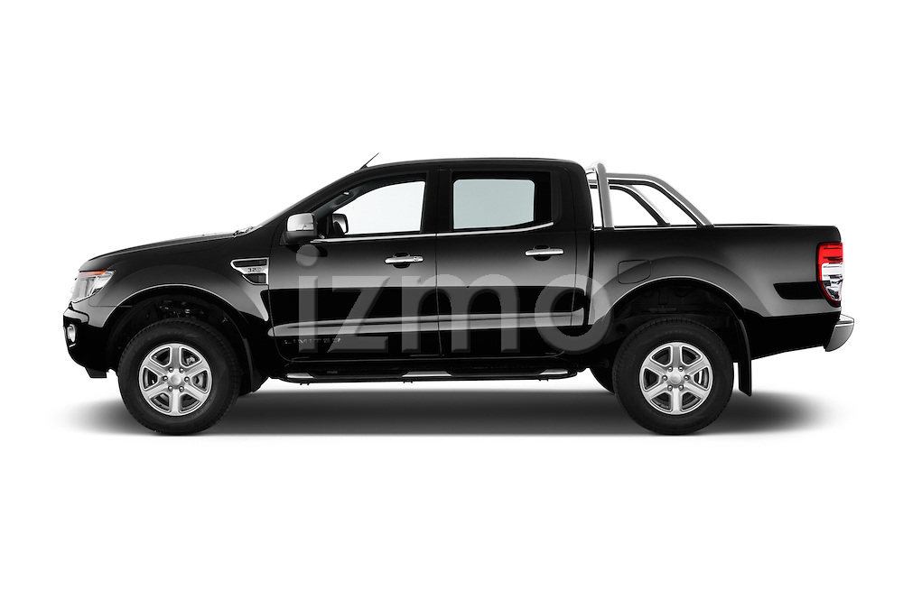Car Driver side profile view of a 2014 Ford Ranger Limited 4 Door Pickup Side View