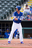 Cody Bellinger (10) of the Oklahoma City Dodgers waits for the pitch during a game against the Iowa Cubs at Chickasaw Bricktown Ballpark on April 9, 2016 in Oklahoma City, Oklahoma.  Oklahoma City defeated Iowa 12-1 (William Purnell/Four Seam Images)