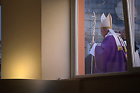 Pope Francis during his pastoral visit to the San Giulio parish on April 7, 2019 in Rome.
