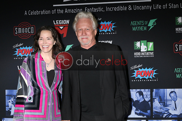 "Michele Correy, Bruce Davison<br /> at ""Excelsior! A Celebration of the Amazing, Fantastic, Incredible & Uncanny Life of Stan Lee,"" TCL Chinese Theater, Hollywood, CA 01-30-19<br /> David Edwards/DailyCeleb.com 818-249-4998"