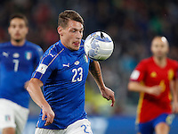 Italy Andrea Belotti in action during the Fifa World Cup 2018 qualification soccer match between Italy and Spain at Turin's Juventus Stadium, October 6, 2016. The game ended 1-1.<br /> UPDATE IMAGES PRESS/Isabella Bonotto