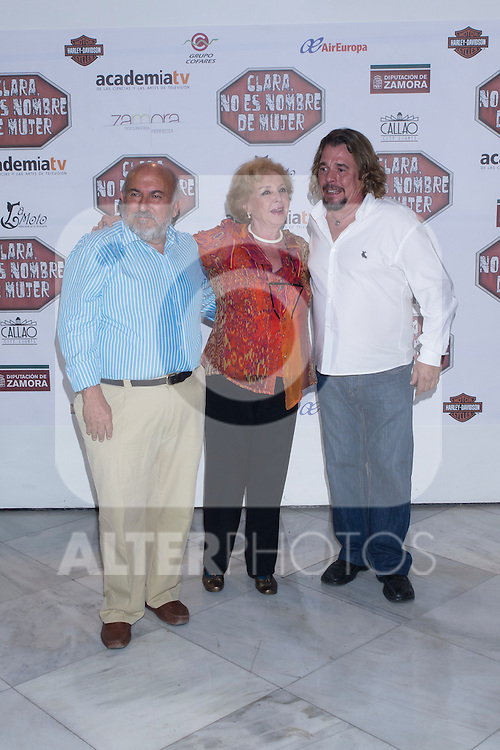 "30.05.2012. Premiere at the Callao Cinema in Madrid of the spanish movie ""Clara is not woman's name"" A comedy directed by Pepe Carbajo. In the image Pepe Carbajo, Maria Jose Alfonso and Juan Muñoz (Alterphotos/Marta Gonzalez)"