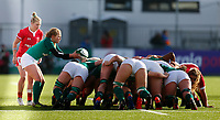 9th February 2020; Energia Park, Dublin, Leinster, Ireland; International Womens Rugby, Six Nations, Ireland versus Wales; Kathryn Dane of Ireland puts the ball into the scrum