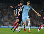 John Stones of Manchester City covers Andre Gomes of Barcelona during the Champions League Group C match at the Etihad Stadium, Manchester. Picture date: November 1st, 2016. Pic Simon Bellis/Sportimage