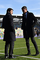 Former AC Milan players Paolo Maldini and Leonardo talk ahead the Serie A 2018/2019 football match between Frosinone and AC Milan at stadio Benito Stirpe, Frosinone, December, 26, 2018 <br />  Foto Andrea Staccioli / Insidefoto