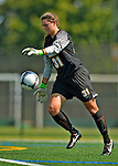 26 August 2012: University of Vermont Catamount goalkeeper Sarah Leiby in action against the Fairfield University Stags at Virtue Field in Burlington, Vermont. The Stags defeated the Lady Cats 1-0. Mandatory Credit: Ed Wolfstein Photo