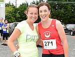 Yasmin Canning and Erin McHugh who ran the Newtown Blues 12.5K run. Photo:Colin Bell/pressphotos.ie