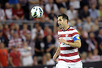 U.S defender Carlos Bocanegra (3) heads the ball back to his goalkeeper..USMNT defeated Guatemala 3-1 in World Cup qualifying play at LIVESTRONG Sporting Park, Kansas City, KS.