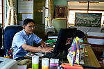 NEPAL Kathmandu, Lazimpat, tibetan refugees, Tibetan Refugee Welfare Office / tibetische Fluechtlinge, tibetische Exilregierung mit dem Namen Tibetan Refugee Welfare Office
