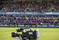 Fans of the show during The Impractical Jokers (Hit US TV Comedy) filming at Wycombe Wanderers FC at Adams Park, High Wycombe, England on 5 April 2016. Photo by Andy Rowland.