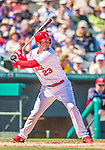 4 March 2013: St. Louis Cardinals infielder David Freese in action during a Spring Training game against the Minnesota Twins at Roger Dean Stadium in Jupiter, Florida. The Twins shut out the Cardinals 7-0 in Grapefruit League play. Mandatory Credit: Ed Wolfstein Photo *** RAW (NEF) Image File Available ***