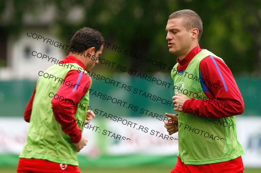 Fudbal, World Cup 2010, preparations.Preparations for world cup 2010.Nemanja Vidic, right and Dejan Stankovic.Leogang, 30.05.2010..foto: Srdjan Stevanovic/Starsportphoto ©