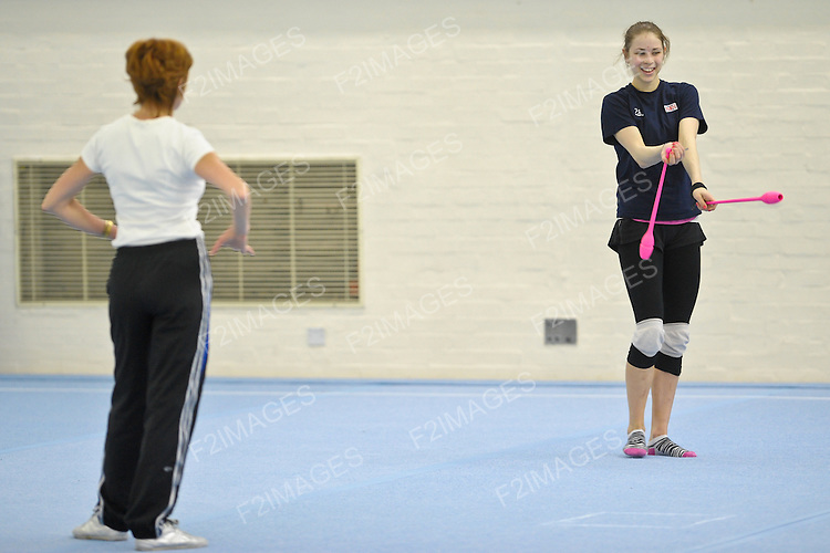 Media Day at Lilleshall NSC British Gymnastics. Squad members pictured ahead of the European Championships for Women in Belgium May 9th-13th 2012.Francesca Jones pictured during training at Lilleshall NSC