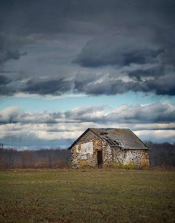 February 25, 2011 / Dramatic Sky and lonely shack / Photo by Bob Laramie