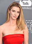 SANTA MONICA, CA - JANUARY 11: Actor Betty Gilpin attends The 23rd Annual Critics' Choice Awards at Barker Hangar on January 11, 2018 in Santa Monica, California.