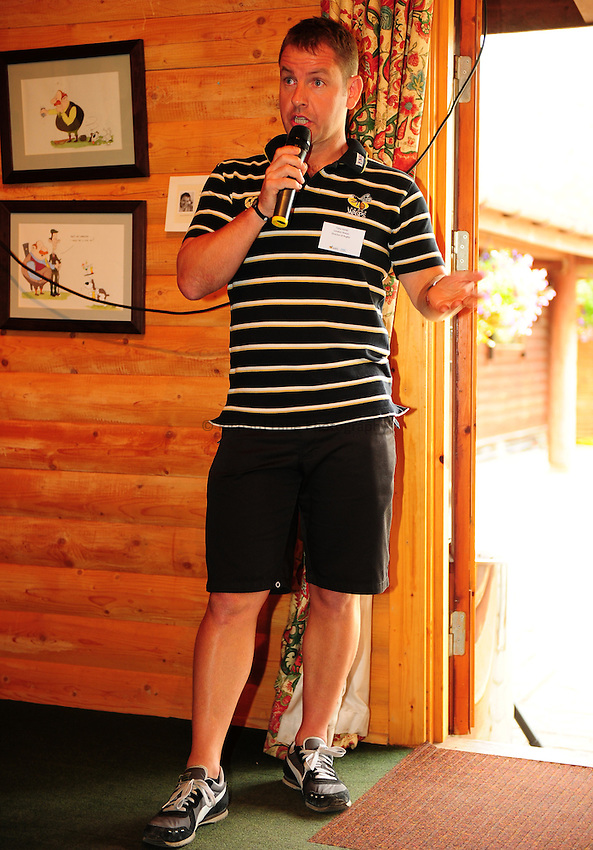 Photo: Richard Lane/Richard Lane Photography. London Wasps summer clay pidgeon shoot at E L Churchill Shooting Grounds, West Wycombe. 07/07/2010. Player Q and A.