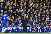 5th November 2017, Stamford Bridge, London, England; EPL Premier League football, Chelsea versus Manchester United; Chelsea Manager Antonio Conte watches the ball in a tight game
