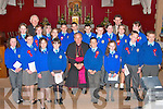 The boys and girls of Asdee National School pictured with Bishop Bill Murphy, Fr. Michael Maher and their teacher John Wren after their confirmation in the Church of St. Michael the Archangel, Ballylongford on Tuesday.   Copyright Kerry's Eye 2008