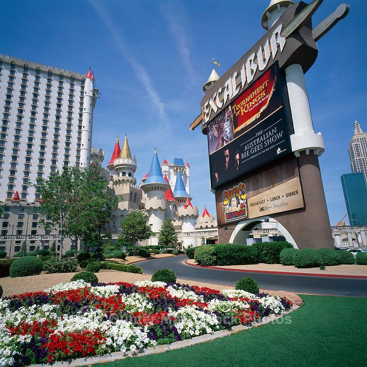 Las Vegas, Nevada, USA - Excalibur Hotel and Casino along The Strip (Las Vegas Boulevard)