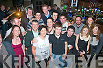 Farrell O'Gara, Dromtacker, Tralee (front centre) had a blast for his 21st birthday last Saturday night in Kirby's Brogue with many friends and family.