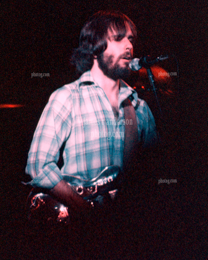 Bob Weir performing with The Grateful Dead. Live in Concert at The Springfield Civic Center on 23 April 1977.