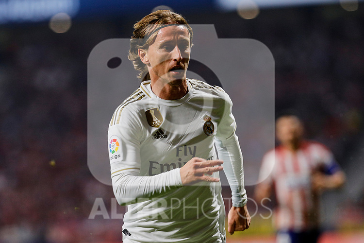 Luka Modric of Real Madrid during La Liga match between Atletico de Madrid and Real Madrid at Wanda Metropolitano Stadium in Madrid, Spain. September 28, 2019. (ALTERPHOTOS/A. Perez Meca)