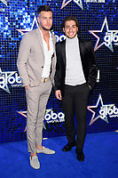 Chris Hughes &amp; Kem Cetinay arriving for the Global Awards 2018 at the Apollo Hammersmith, London, UK. <br /> 01 March  2018<br /> Picture: Steve Vas/Featureflash/SilverHub 0208 004 5359 sales@silverhubmedia.com