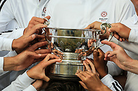 Team England get their hands on the trophy after Day 3 / singles of the Boys' Home Internationals played at Royal Dornoch Golf Club, Dornoch, Sutherland, Scotland. 09/08/2018<br /> Picture: Golffile | Phil Inglis<br /> <br /> All photo usage must carry mandatory copyright credit (&copy; Golffile | Phil Inglis)