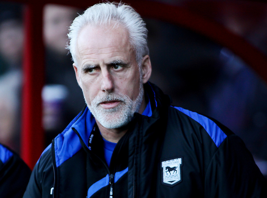 Ipswich Town's Manager Mick McCarthy before kick off.<br /> Photo by James Marsh/CameraSport<br /> <br /> Football - The Football League Sky Bet Championship - AFC Bournemouth v Ipswich Town - Sunday 29th December 2013 - Goldsands Stadium - Bournemouth<br /> <br /> &copy; CameraSport - 43 Linden Ave. Countesthorpe. Leicester. England. LE8 5PG - Tel: +44 (0) 116 277 4147 - admin@camerasport.com - www.camerasport.com
