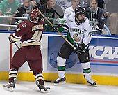 Mike Brennan, Rylan Kaip - The Boston College Eagles defeated the University of North Dakota Fighting Sioux 6-5 on Thursday, April 6, 2006, in the 2006 Frozen Four afternoon Semi-Final at the Bradley Center in Milwaukee, Wisconsin.