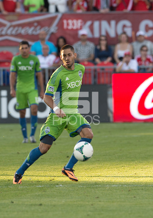 August 10, 2013: Seattle Sounders FC forward Clint Dempsey #2 in action during an MLS regular season game between the Seattle Sounders and Toronto FC at BMO Field in Toronto, Ontario Canada.