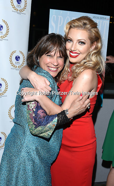 Fran Capo and Dalal/ Dalal Bruchmann, Recording Artist,Composer and Actress attends the &quot;EPN Spotlight Magazine&quot;  launch party on June 10, 2016 at the Renaissance NY Hotel in New York, New York, USA. Dalal Bruchmann is the cover model.<br /> <br /> photo by Robin Platzer/Twin Images<br />  <br /> phone number 212-935-0770