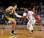 BROOKINGS, SD - FEBRUARY 1: Tevin King #2 from South Dakota State University looks to make a move against Tyson Ward #24 from North Dakota State University during their game Thursday at Frost Arena in Brookings. (Photo by Dave Eggen/Inertia)