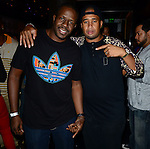 MIAMI BEACH, FL - NOVEMBER 20: DJ Griot and Abebe Lewis attend B.O.B real name Bobby Ray Simmons, Jr. attends his PRIVATE #UndergroundLuxury Listening Session at Haven on November 20, 2013 in Miami Beach, Florida. (Photo by Johnny Louis/jlnphotography.com)