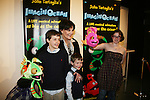 Another World's Linda Dano with Dorsel (L) and Bubbles & Stacey Weingarten at the opening night of John Tartaglia's Imaginocean, a new family undersea musical adventure on March 31, 2010 at New World Stages, New York City, New York. John Tartaglia's ImaginOcean is an interactive family show - a magical, musical undersea adventure for kids of all ages. Tank, Bubbles, and Dorsel are three best friends who just happen to be fish, and they're about to set out on a remarkable journey of discovery. And it all starts with a treasure map. As they swim off in search of clues, they'll sing, they'll dance, and they'll make new friends -- including everyone in the audience. Ultimately, they discover the greatest treasure of all -- friendship. Jam-packed with original music ranging from swing to R&B to Big Band, John Tartaglia's ImaginOcean is a blast rom the first big splash to the last wave goodbye. (Photo by Sue Coflin/Max Photos)