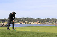 Jason Day (AUS) putts onto the 7th green during Sunday's Final Round of the 2018 AT&amp;T Pebble Beach Pro-Am, held on Pebble Beach Golf Course, Monterey,  California, USA. 11th February 2018.<br /> Picture: Eoin Clarke | Golffile<br /> <br /> <br /> All photos usage must carry mandatory copyright credit (&copy; Golffile | Eoin Clarke)