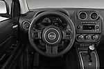 Steering wheel view of a