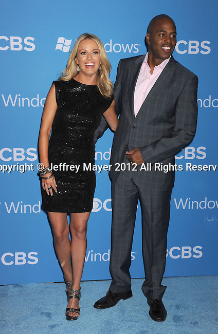WEST HOLLYWOOD, CA - SEPTEMBER 18: Brooke Anderson and Kevin Frazier arrive at the CBS 2012 fall premiere party at Greystone Manor Supperclub on September 18, 2012 in West Hollywood, California.