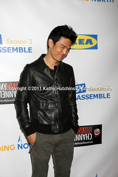 "LOS ANGELES - OCT 10:  John Cho arriving at the Web-series ""EASY TO ASSEMBLE""  FINDING NORTH webisode Premiere at the Egyptian Theatre on October 10, 2011 in Los Angeles, CA"