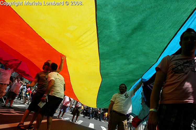 The 39th  Annual Lesbian, Gay, Bisexual and Transgender Pride March along 5th Ave. in Manhattan.