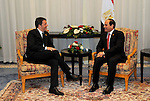 Egyptian Presidency shows Egyptian President Abdel Fattah al-Sisi meets with Italian Prime Minister Matteo Renzi, at the Congress Hall where Egypt Economic Development Conference (EEDC), in Sharm el Sheikh, South Sinai in Egypt, on March 14, 2015. Gulf Arab allies pledged a further $12 billion of investments and central bank deposits for Egypt at an international summit on Friday, a big boost to President Abdel Fattah al-Sisi as he tries to reform the economy after years of political upheaval. Photo by Egyptian Presidency