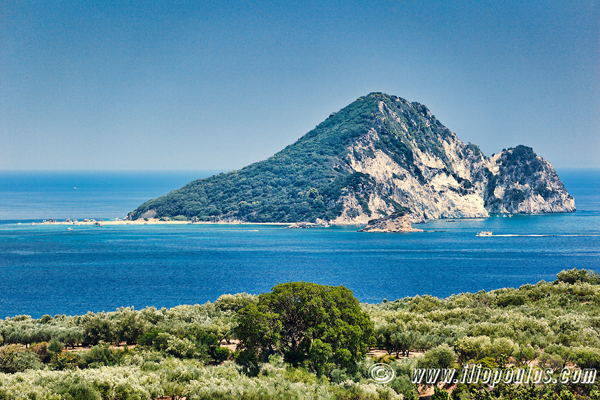 Marathonisi Island in Zakynthos, Greece
