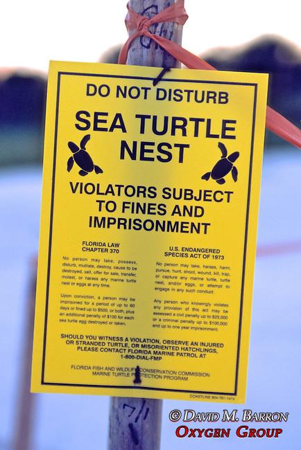 Sea Turtle Nest Sign