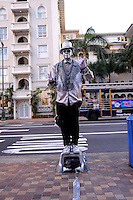 """Living statue"" busker. Waikiki, Honolulu, Hawaii"