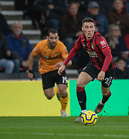 Bournemouth's Harry Wilson (right) under pressure from Wolverhampton Wanderers' Jonny Otto (left) <br /> <br /> Photographer David Horton/CameraSport<br /> <br /> The Premier League - Bournemouth v Wolverhampton Wanderers - Saturday 23rd November 2019 - Vitality Stadium - Bournemouth<br /> <br /> World Copyright © 2019 CameraSport. All rights reserved. 43 Linden Ave. Countesthorpe. Leicester. England. LE8 5PG - Tel: +44 (0) 116 277 4147 - admin@camerasport.com - www.camerasport.com