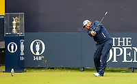 210719 | The 148th Open - Final Round<br /> <br /> BJ Holes of USA hits his opening tee shot out of bounds on the 1st during the final round of the 148th Open Championship at Royal Portrush Golf Club, County Antrim, Northern Ireland. Photo by John Dickson - DICKSONDIGITAL