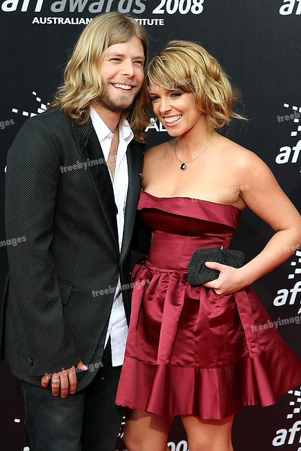 Australian idol Wes Carr and his girlfriend Charlotte Gregg at the 2008 AFI Awards from the Princess Theatre Melbourne Saturday 6th December 2008