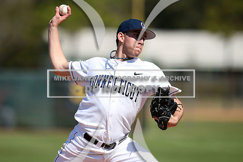 February 28, 2010:  Pitcher Matt Barnes of the University of Connecticut Huskies during the Big East/Big 10 Challenge at Raymond Naimoli Complex in St. Petersburg, FL.  Photo By Mike Janes/Four Seam Images
