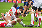 biarritz. pais vasco. rugby<br /> rugby match during the rugby french league, 02-03-14<br /> En la imagen :<br /> lesgourgues (9)<br /> photocall3000 / rme
